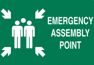 assembly point signage - safetynotes.in