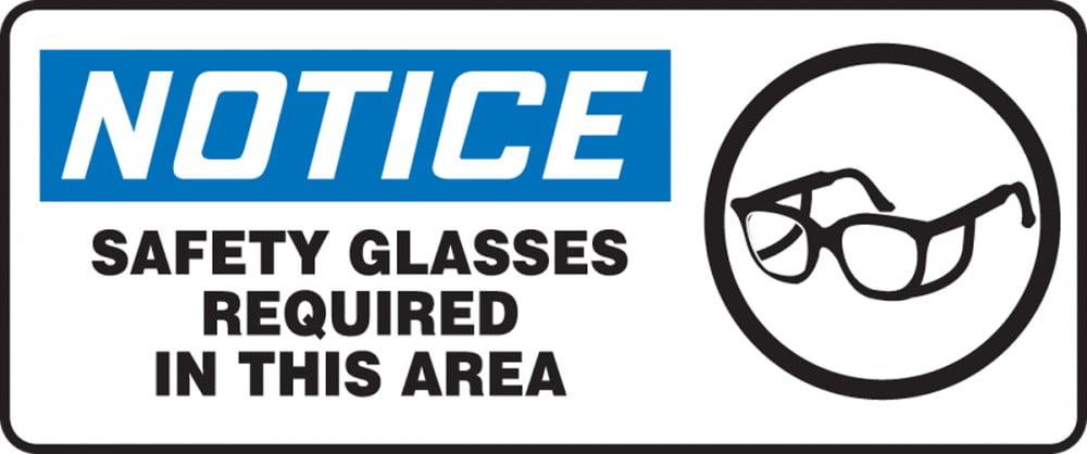 Safety Goggle Signage